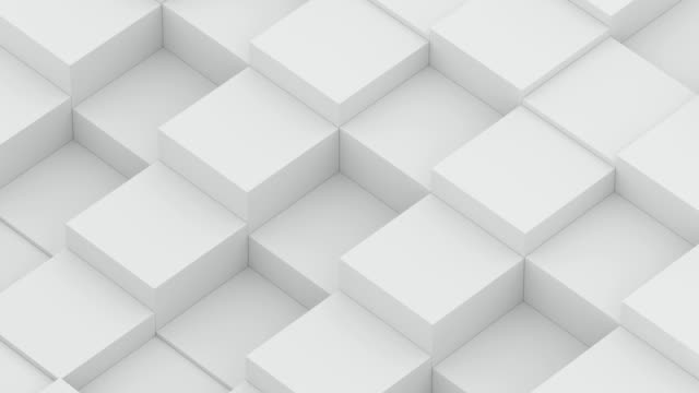 diagonal cube waves - white color stock videos & royalty-free footage