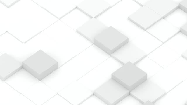 vídeos de stock, filmes e b-roll de ondas de diagonal do cubo - cubo