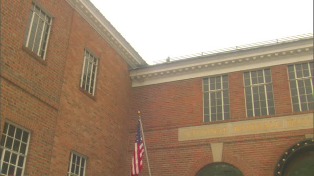 td national baseball hall of fame museum building entrance - hall of fame stock videos and b-roll footage