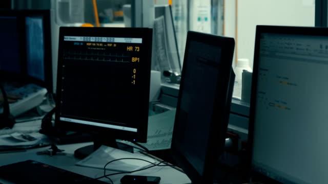 Diagram of vital indicators on screen