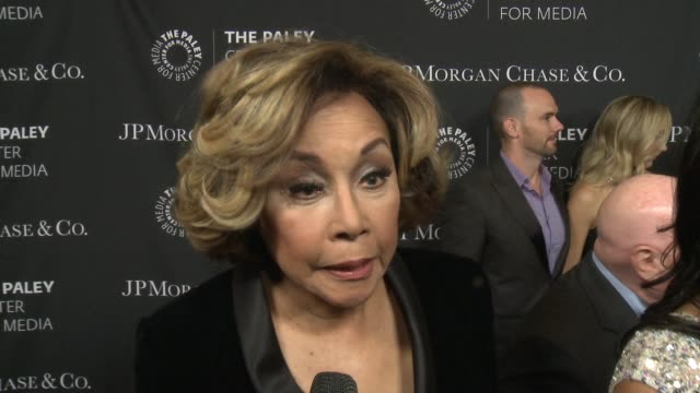 diahann carroll on being at the event tonight at the paley center for media's tribute to african-american achievements in television presented by... - tribute event stock videos & royalty-free footage