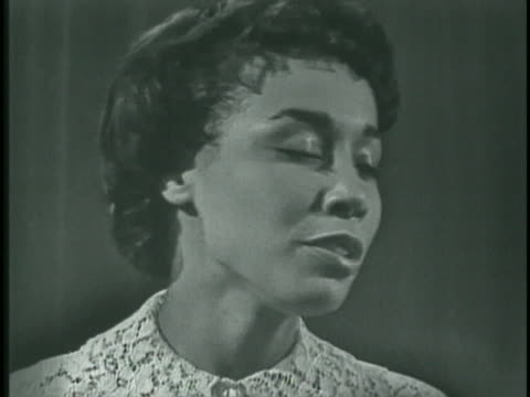 diahann carroll performs in the today television studio in 1959. - musician stock videos & royalty-free footage
