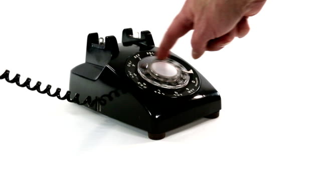 dialing an old rotary telephone | video - rotary phone stock videos and b-roll footage