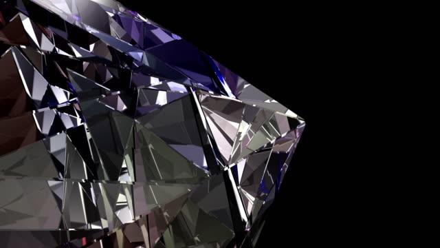 ダイヤモンド 4 k ループ アルファ - ダイヤモンド点の映像素材/bロール
