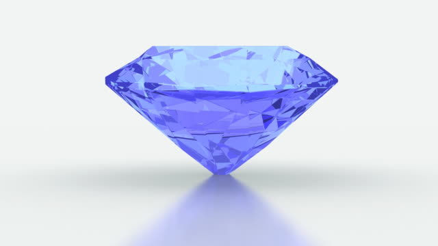 diamond 9#1 blue - stone object stock videos & royalty-free footage