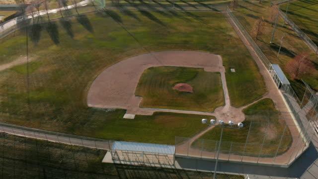 diamond at sunset/sunrise - baseball diamond stock videos & royalty-free footage