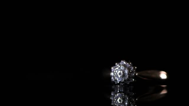 diamond gold engagement ring - intricacy stock videos & royalty-free footage