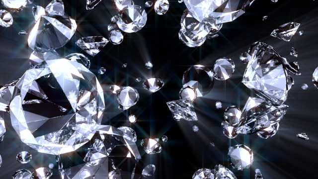 diamond #21 hd ray blue - stone object stock videos & royalty-free footage