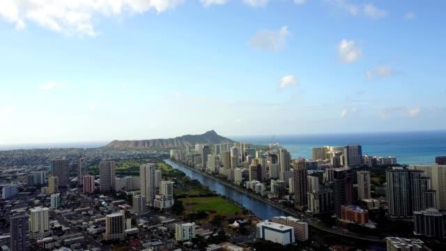 diamond head in waikiki, hawaii - honolulu stock videos and b-roll footage