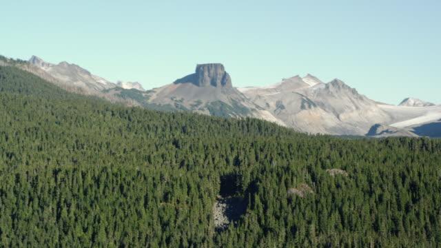 aerial diamond head, mountains and forest at garibaldi provincial park / squamish, british columbia, canada - garibaldi park stock videos & royalty-free footage
