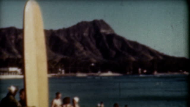 diamond head surfing 1940's - pearl harbor stock videos and b-roll footage