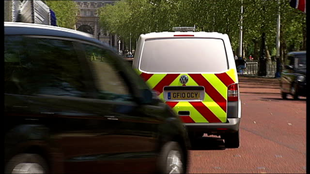 diamond jubilee celebrations role of emergency services communications system england london int van point of view from cab of van as driven along... - emergency equipment stock videos & royalty-free footage