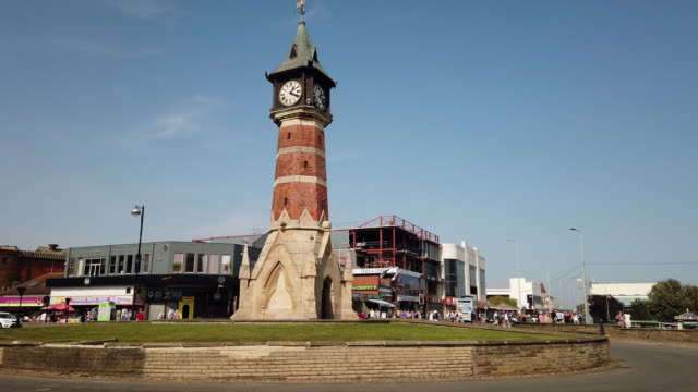 diamond jubliee clock tower in skegness lincolnshire england uk - 1899 stock videos & royalty-free footage