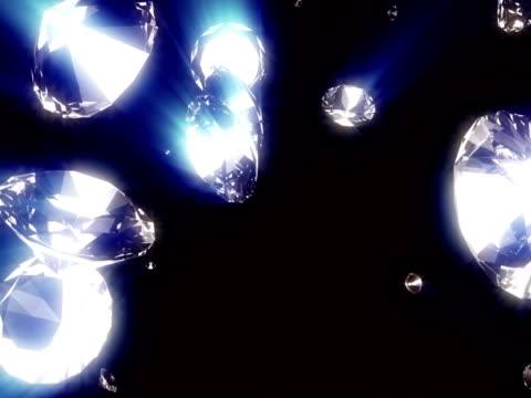 diamond #42 ntsc glint shine blue - stone object stock videos & royalty-free footage