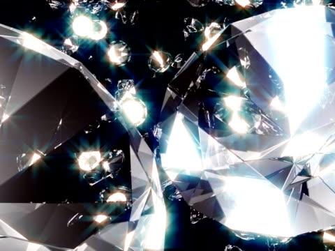 vídeos de stock e filmes b-roll de diamante#46 ntsc glint - stone object
