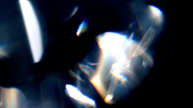 diamond prism macro 03 - prism stock videos & royalty-free footage
