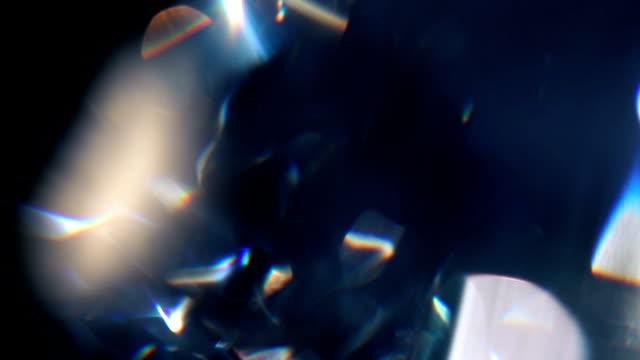 diamond prism macro 05 - prism stock videos & royalty-free footage