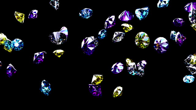 diamond rain 01 - stone object stock videos & royalty-free footage