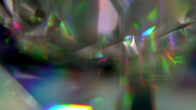 diamond rainbow prism texture - フラクタル点の映像素材/bロール