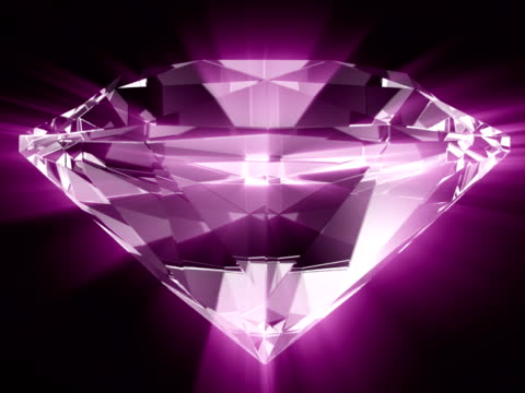 diamond rays #5 ntsc - stone object stock videos & royalty-free footage