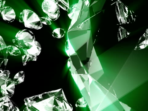 stockvideo's en b-roll-footage met diamond #10 rays ntsc - stone object