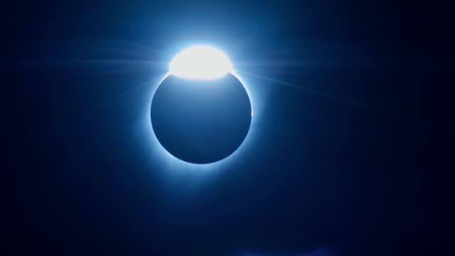 Diamond Ring Effect at End of Totality During Total Solar Eclipse Over Oregon