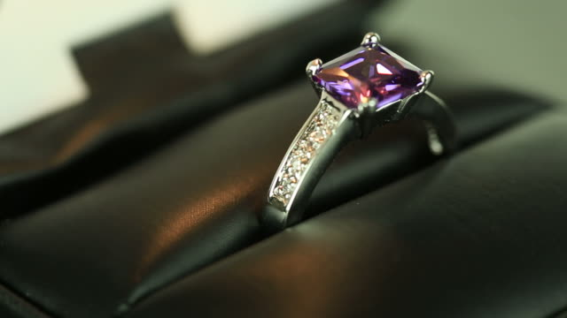 diamond ring - stone object stock videos & royalty-free footage
