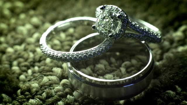 diamond rings - ring jewelry stock videos and b-roll footage