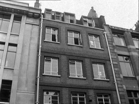 diamond robbery; england: hatton garden: av tilt up building clark: they came in through the front door, apparently; and delivered the cylinders, six... - escape key stock videos & royalty-free footage