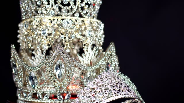 diamond silver crown miss pageant beauty contest - crown stock videos & royalty-free footage