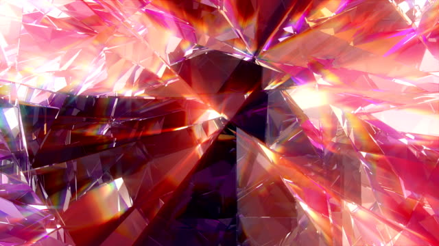 diamond vj dj background 4k loop - kaleidoscope pattern stock videos & royalty-free footage