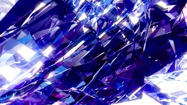 diamond vj dj background 4k loop - precious gemstone stock videos & royalty-free footage