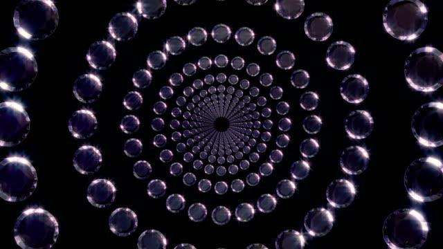 vidéos et rushes de diamants 4k boucle alpha - diamant pierre précieuse