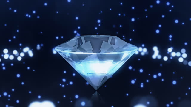 diamonds 4k loop - stone object stock videos & royalty-free footage