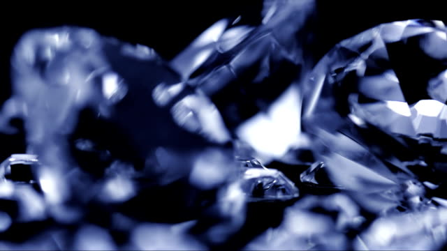 diamonds on black background - stone object stock videos & royalty-free footage