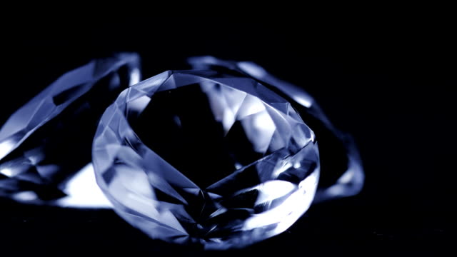 diamonds rotating - stone object stock videos and b-roll footage