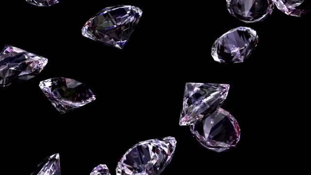 diamonds - diamond gemstone stock videos and b-roll footage