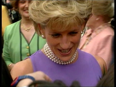 diana continues visit; australia sydney cms princess diana greeting crowd bv ditto - geographical locations stock videos & royalty-free footage