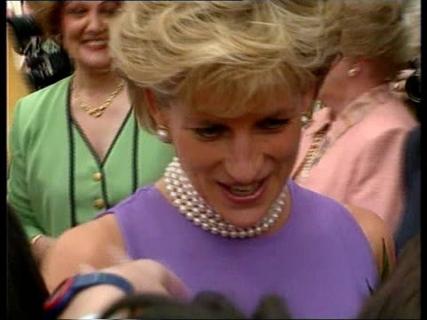 diana continues visit australia sydney princess diana greeting crowd bv ditto - sleeveless dress stock videos and b-roll footage