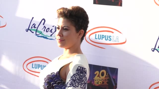 diana degarmo at the lupus la orange ball a night of superheroes at fox studios in los angeles at celebrity sightings in los angeles on may 07 2016... - lupus la orange ball video stock e b–roll