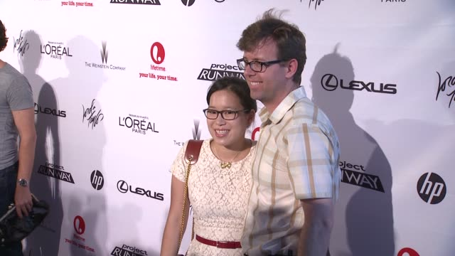 diana eng and guest at project runway 10th anniversary party at highline on july 17 2012 in new york new york - project runway stock videos and b-roll footage