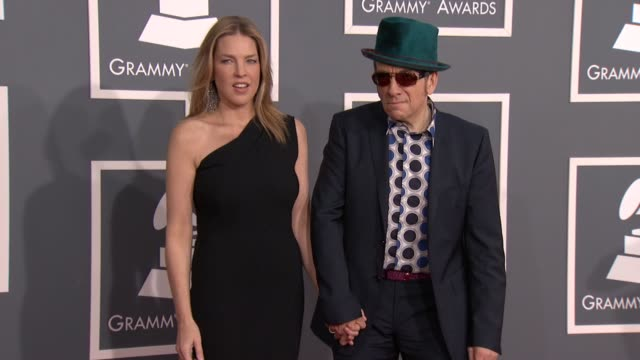 Diana Krall and Elvis Costello at 54th Annual GRAMMY Awards Arrivals on 2/12/12 in Los Angeles CA