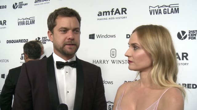 INTERVIEW Diana Kruger Joshua Jackson on why it was important for them to support amfAR at amfAR's Inspiration Gala Los Angeles 2015 in Los Angeles CA