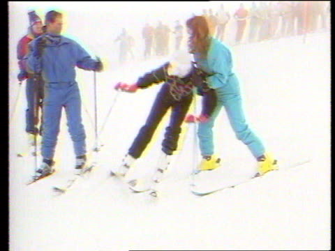 Diana Princess of Wales Collection 141084 Klosters Diana and Sarah Duchess of York on ski slopes Duchess of York stopping Diana from falling Royal...