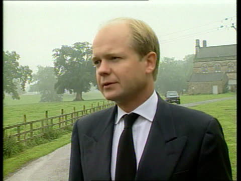 part 3 t31089705 england yorkshire richmond william hague mp statement sot - william hague stock-videos und b-roll-filmmaterial