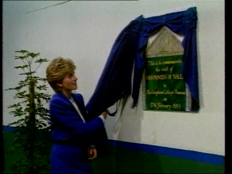 Part 5 SPL0627 Diana On Her Own Princess Diana in blue suit unveiling plaque at Rockingham College Diana in blue suit unveiling plaque at Rockingham...