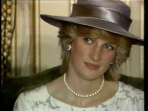 diana, princess of wales collection: part 5; spl0628 spl0628 tears of a princess princess diana location unknown: head and shoulders shot of diana in... - princess stock videos & royalty-free footage