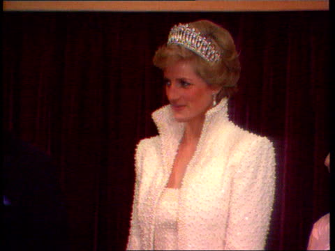 Part 5 SPL0628 Tears Of A Princess Princess Diana Location unknown Diana in highcoloured white gown smiling though breathing heavily