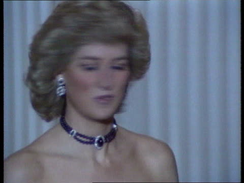 Part 5 SPL0628 Tears Of A Princess Diana Location unknown Close shot of Diana in mauve choker bareshouldered turning head