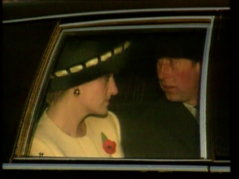 vídeos de stock, filmes e b-roll de part 5 t02119205 royal couple look strained on their south korea visit south korea seoul diana in yellow suit and black and yellow hat looking jaded... - 1992